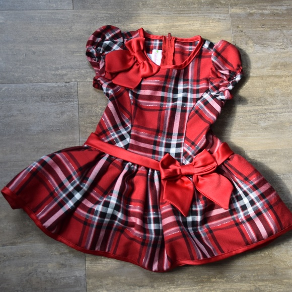 6d4ae2d75b8cd Ashley Ann Dresses | Toddler Girls Red Black Plaid Holiday Dress ...